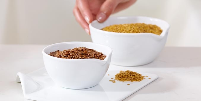 Bowls of various grains, which are used in some Hill's pet food.